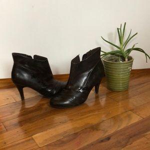 Dark brown sexy stiletto booties